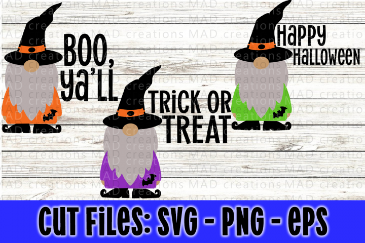 Bundle Halloween Gnome with Witches Hat and Shoes