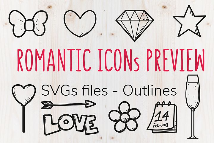 Romantic SVG icons - THE PREVIEW
