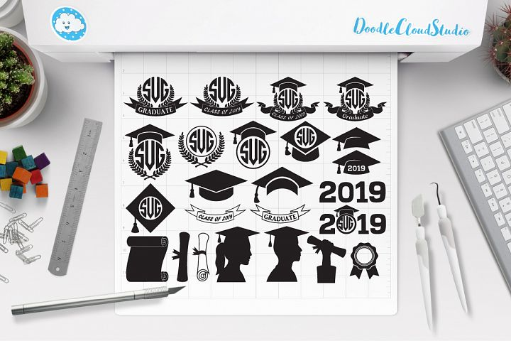 Graduation SVG, Graduation Hat SVG, Laurea SVG files.