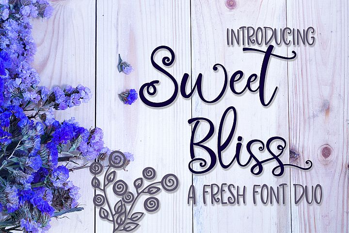 Sweet Bliss Font Duo