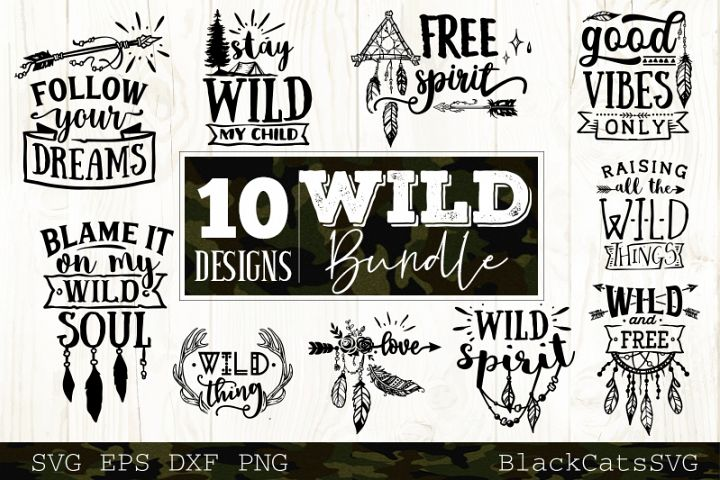 Wild SVG bundle 10 designs Boho SVG bundle vol 2