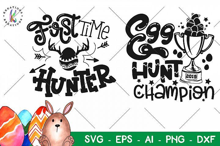 Easter svg Egg Hunt Champion SVG First time Hunter SVG