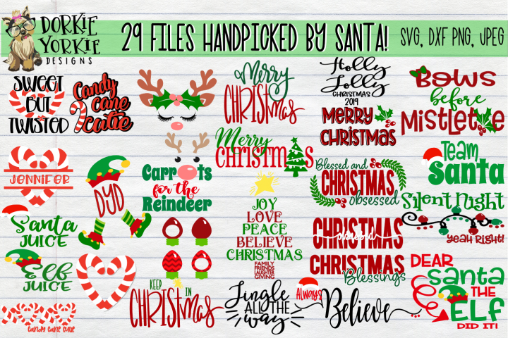 BIG BUNDLE Santa Favorite- Christmas, Xmas SVG cut files