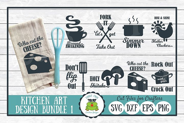 Kitchen Art Design Bundle 1- SVG Cut Files for Crafter