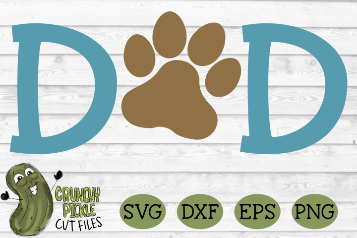 Dog Dad Paw SVG example 2