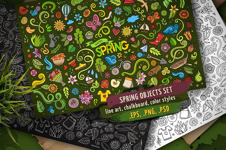 Spring Objects & Symbols Set