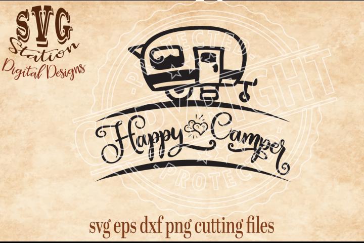 Happy Camper Cut File