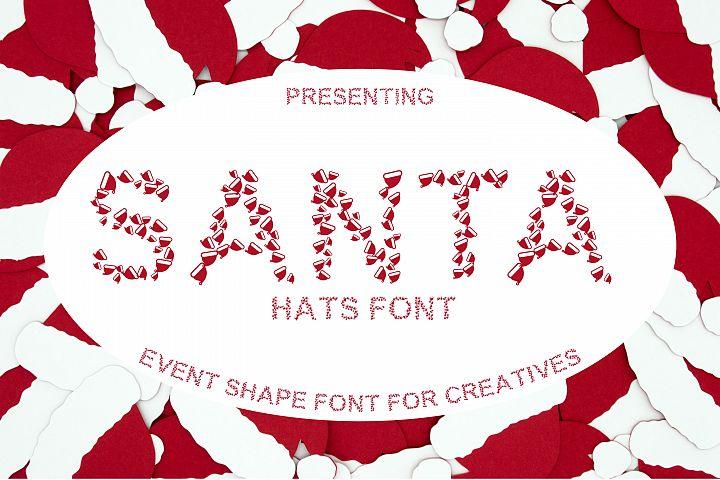 Santa Hat Font - A Fun Christmas Font
