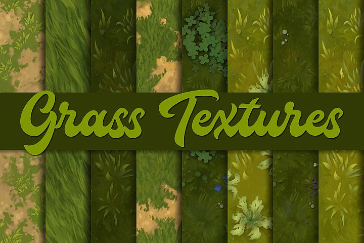 Hand-painted grass textures |Tileable