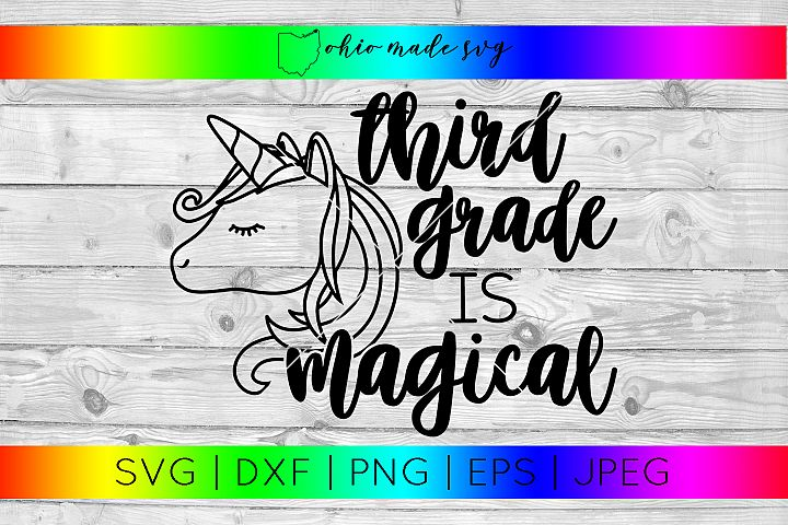 Third Grade Is Magical SVG