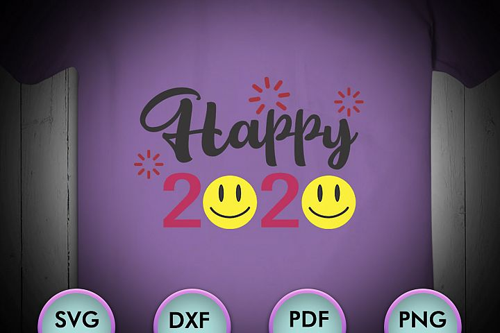 Happy 2020, New Years Svg, Hello 2020 Svg, New Years Svg