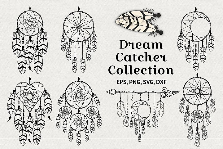 Hand drawn dream catcher designs and dream catcher creator.