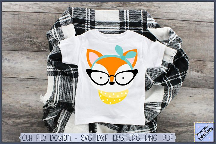 Hipster Fox - SVG, Clipart, Printable