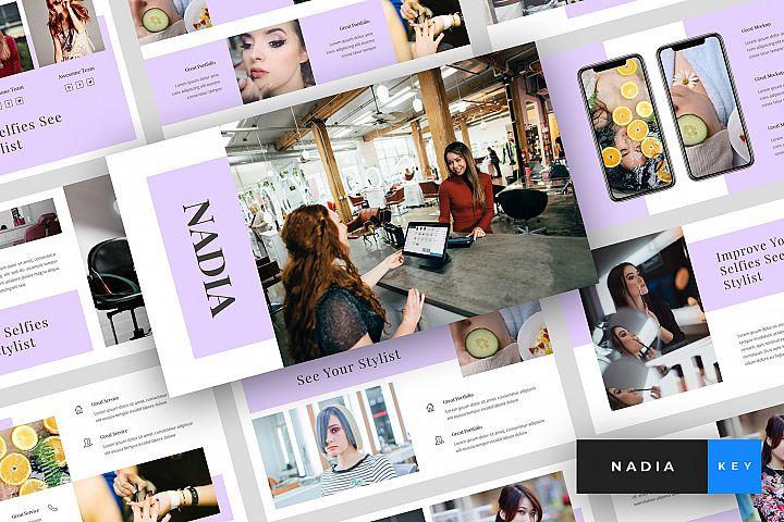 Nadia - Hair Salon Keynote Template