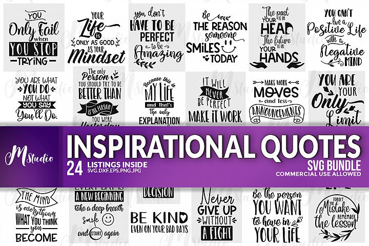 Inspirational Quotes svg Bundle