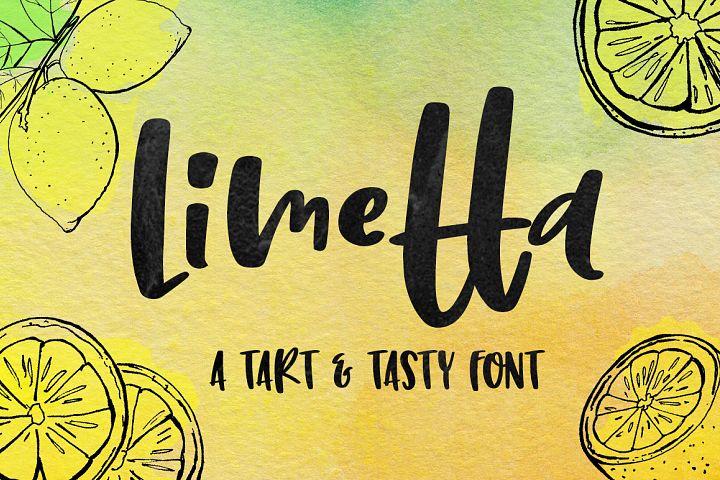Limetta a fun handwritten font