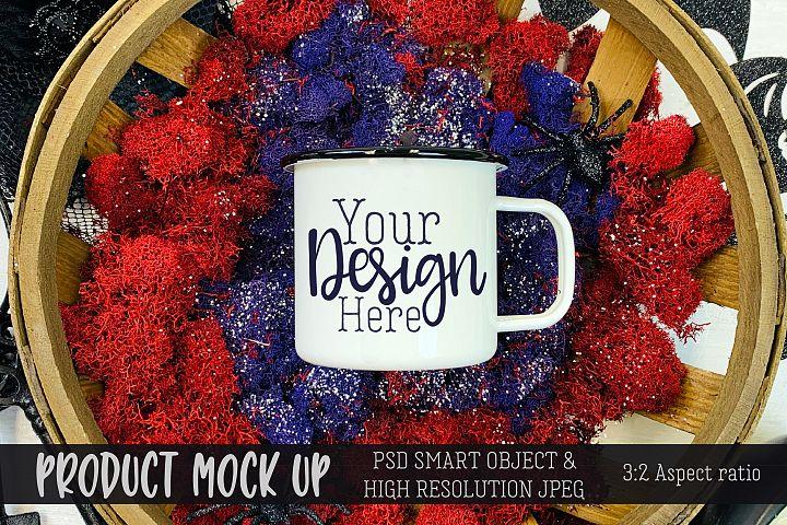 Halloween mug Craft mock up | PSD & JPEG