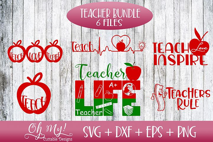 Teacher Bundle - SVG DXF EPS PNG