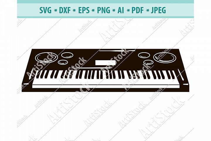 Piano Svg, Musical Instrument Svg, Synthesizer Dxf, Png, Eps