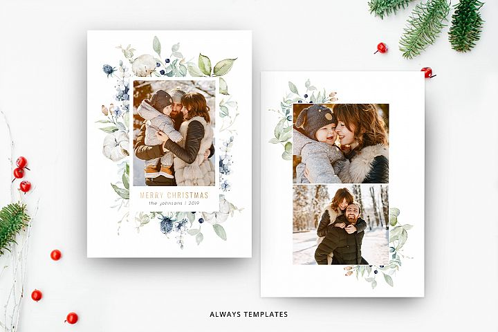 Christmas Card Template CC077