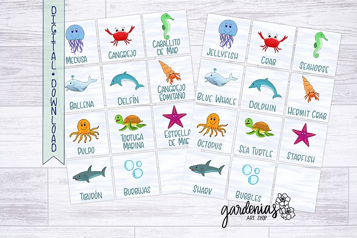 Sea Animals Memory Game | Printable Matching Game | Cards