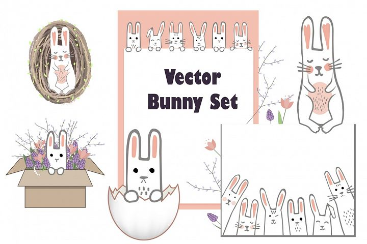 Vector Bunny Collection