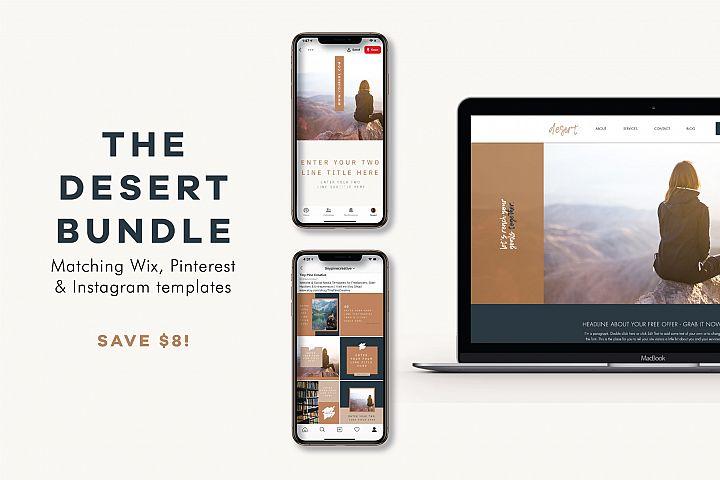 The Desert Bundle | Wix Website | Social Templates