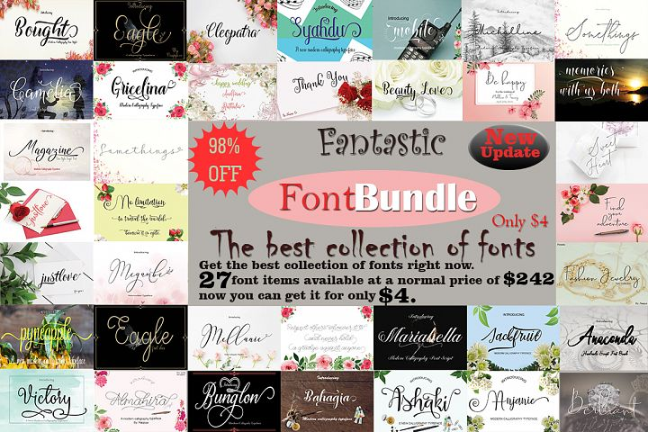 Fantastic FontBundle the best collection of fonts
