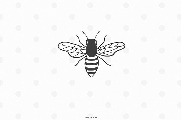 Bumble bee svg cut file
