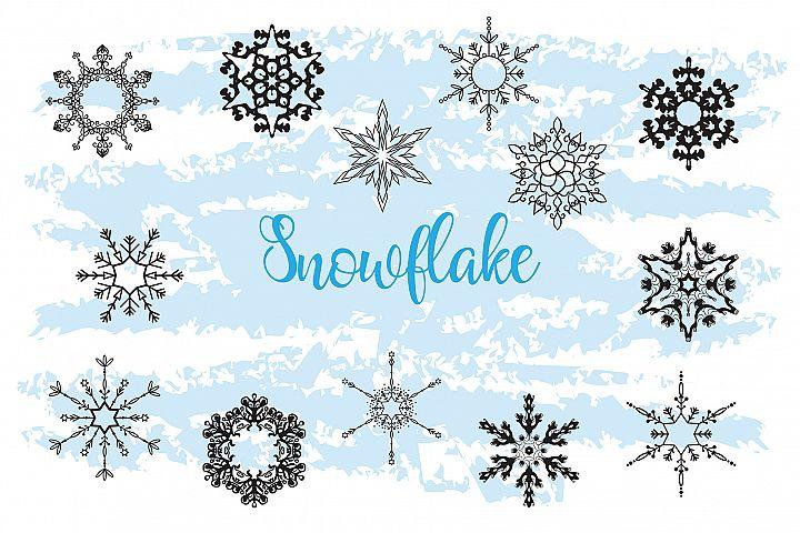 Christmas Decor Snowflake Clipart snowflake silhouette example 2