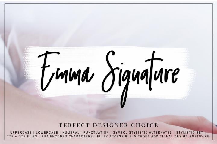 Emma Signature script font
