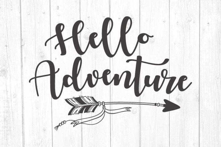 Hello Adventure Svg, Camper Svg, Camping Svg