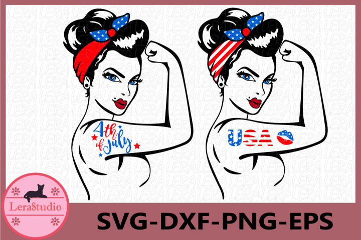 Girl Power SVG, 4th Of July Svg, Power Silhouette