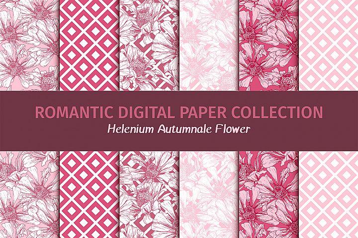 Romantic Flower Digital Papers