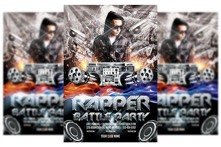 Rapper Battle Flyer