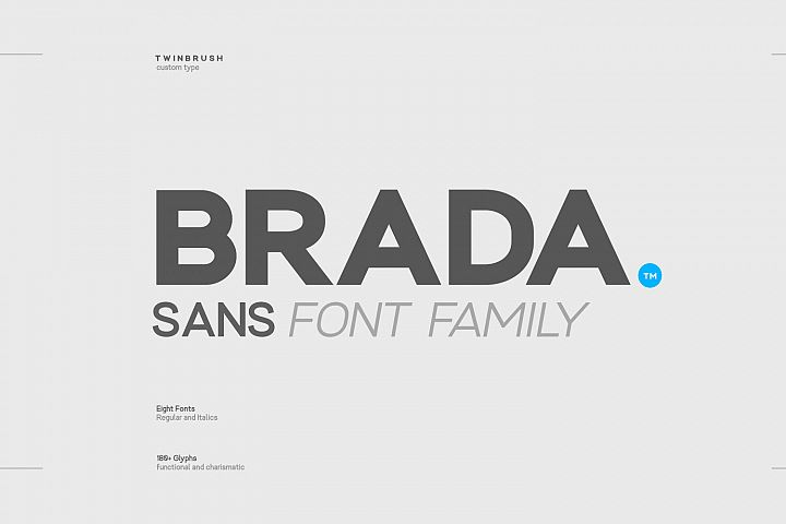 Brada - A Powerful Sans Font Family