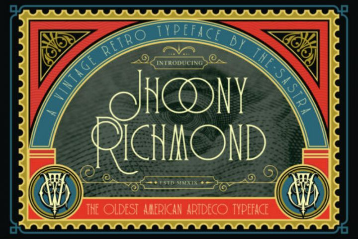 Jhoony Richmond Font Jhoony Richmond is a stunning display f