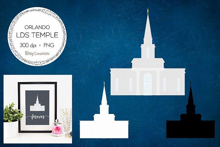 Orlando Florida LDS Temple Clipart