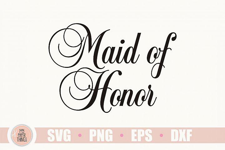 Wedding svg, Maid of Honor svg