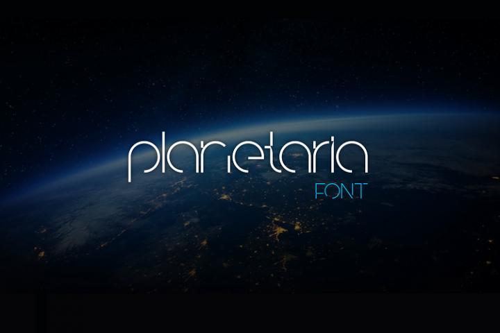 Planetaria Font