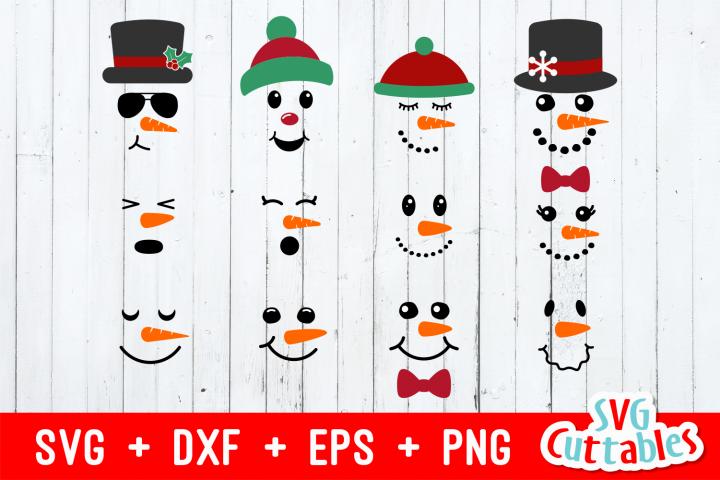 Snowman Faces |Christmas Cut File