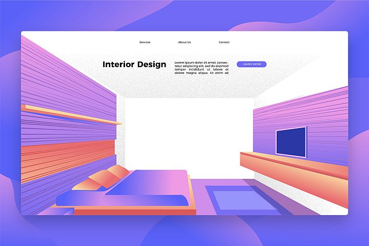 Interior Design - Banner & Landing Page