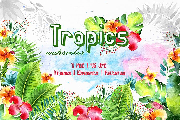 Tropics Watercolor png