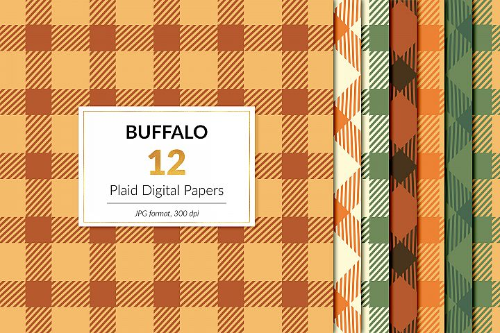 Fall Buffalo Plaid Digital Paper