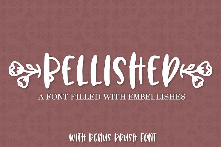 Bellished - Ornament font with bonus brush font!