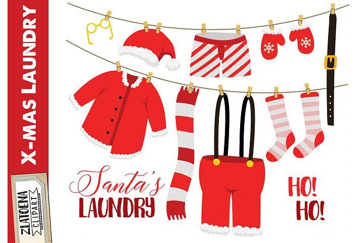 Santas Laundry Clip Art clip art Christmas Clipart Holiday