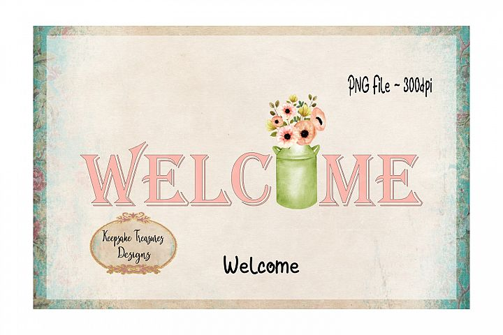 Welcome Sublimation PNG
