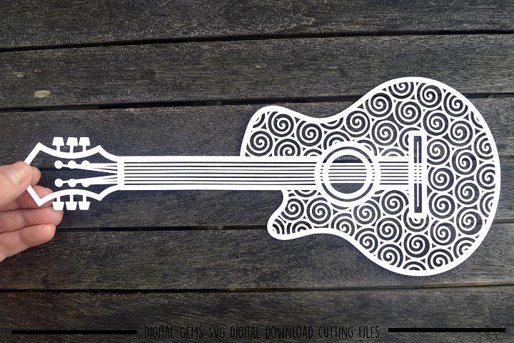 Guitar paper cut SVG / DXF / EPS files