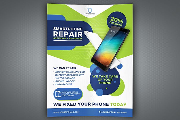 Smartphone Repair Service Flyer Template
