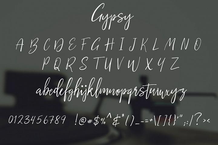 Gypsy Script Font example image 7